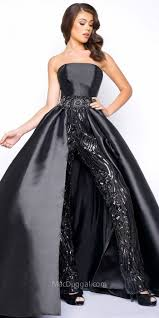 black sequin jumpsuit mac duggal strapless sequin jumpsuit with overskirt where to buy