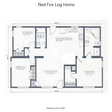 The Red Cottage Floor Plans by Red Fox Log Home Cabin Rentals