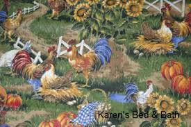 Sunflower Valance Curtains Sunflowers Chicken Farm Rooster Eggs Scenic Kitchen Curtain