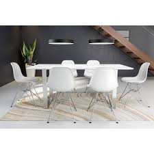 zuo atlas stone and brushed stainless steel dining table 100707