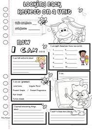 10 free esl reflection worksheets