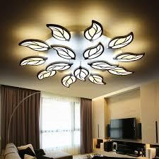 led pour chambre moderne feuille conception led plafond lumières pour chambre salon