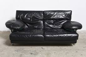 Bb Italia Sofa by Arca Couch In Black Leather By Paolo Piva For B U0026b Italia 1985 For