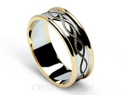 celtic wedding ring celtic wedding bands recessed weave knot with trim 14k white