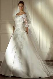 ivory wedding dresses princess a line satin ivory wedding dress with lace sleeves