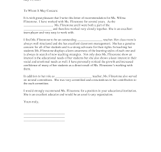 recommendation letter for student from teacher template best