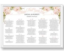 peach seating chart etsy