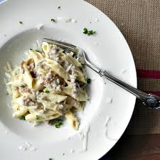 sauce boursin cuisine penne with sausage in boursin cheese recipe