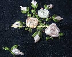 ribbon embroidery flower garden needlecraft silk ribbon embroidery