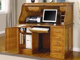 stylish computer desk deluxe oak finish roll top stylish computer desk