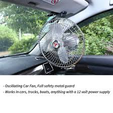 12 volt clip on fan 12v oscillating car cooler portable fan 8 inch with clip switch