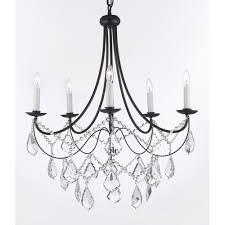 harrison lane 5 light crystal chandelier harrison lane 5 light candle style chandelier walmart com
