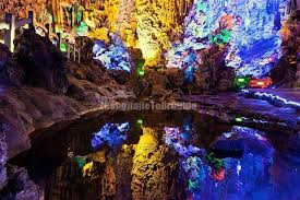 reed flute cave flute cave light scenery guilin
