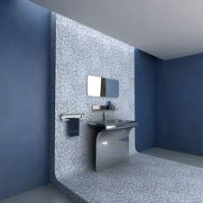 Impressive  Blue And Silver Bathroom Decor Inspiration Design - Silver bathroom