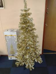 Champagne Glitter Christmas Decorations by 6ft Champagne Gold Glitter Tinsel Christmas Tree Amazon Co Uk