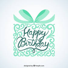 happy birthday card with ornamental gift vector free