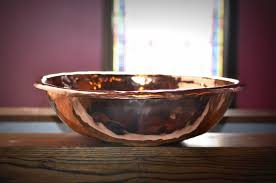baptismal basin hammered copper baptismal font basin