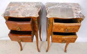 marble top bedside table french marble top inlaid bedside cabinets sold