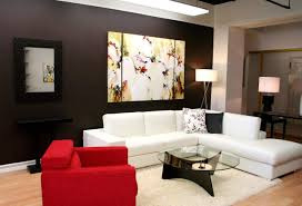 interior impressive living room decorating with brown furniture