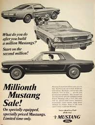 ford mustang ads 1966 ford mustang ad millionth mustang vintage magazine ads