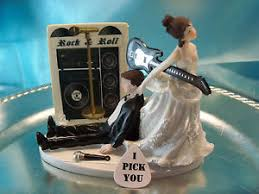 guitar cake topper humorous groom wedding cake topper guitar rock roll