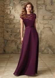 burgundy bridesmaid dresses satin with illusion neckline bridesmaid dress style 101 morilee