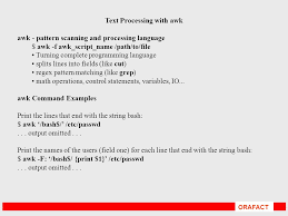 Pattern Matching Using Awk Exles | orafact text processing orafact searching inside files grep