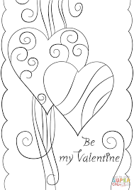 valentines color page valentine u0027s day card
