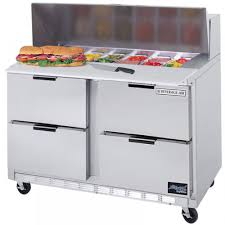 48 inch sandwich prep table used refrigerated food prep tables for pizza more