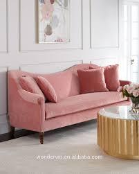 cerise velvet sofa scallop back transitional sofa hotel modern