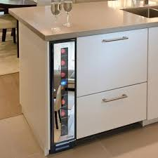 narrow cooler for space saving modern kitchen design modern