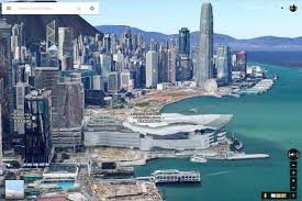 fly through hong kong no chopper necessary with google maps