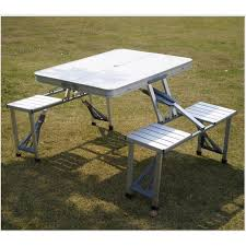 aluminum portable picnic table 2018 new portable aluminum folding table and chairs outdoor table