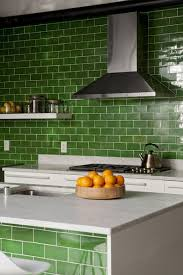 green tile kitchen backsplash colorful kitchen backsplash ideas marble countertops