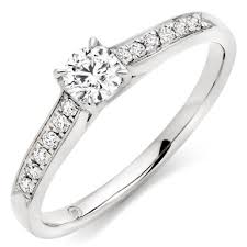 solitare ring 18ct white gold diamond solitaire ring 0000174 beaverbrooks