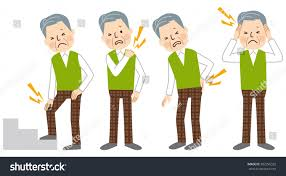 senior man body pain stock vector 302296322 shutterstock