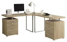 computer desk natural reclaimed look l shaped corner desk
