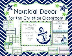 The Crazy Pre K Classroom Nautical ocean navy blue and green