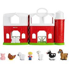 Toy Barn With Farm Animals Little People Animal Friends Farm Walmart Com