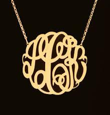 three initial monogram necklace big slim gold monogram necklace 1 5 8 inch purple mermaid