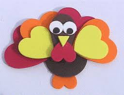 foam turkey thanksgiving craft for