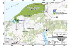 Tyler State Park Map by Highland Copper Forced To Stop Drilling In Porcupine Mountains