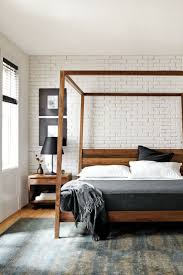 Elle Bedrooms by Linxspiration Bed Pinterest Brick Walls Wood Frames And