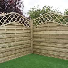 4 Ft Fence Panels With Trellis Buy Mercia Horizontal Weave With Wavy Trellis Fence Panel 4ft