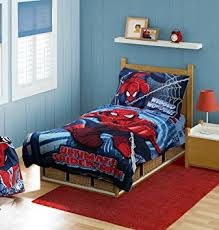 Marvel Baby Bedding Amazon Com Marvel Spiderman Toddler Bedding Set Red