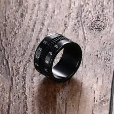unique mens rings online shop unique mens rings in black stainless steel slr