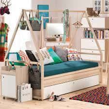 spot kids tipi bed u0026 trolley frame with trundle drawer boys nest