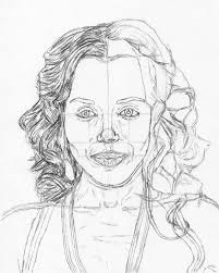 how to draw a face kerry washington tutorial let u0027s draw people