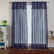 navy blue window valance