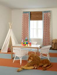 gray and orange playroom with white teepee contemporary boy u0027s room